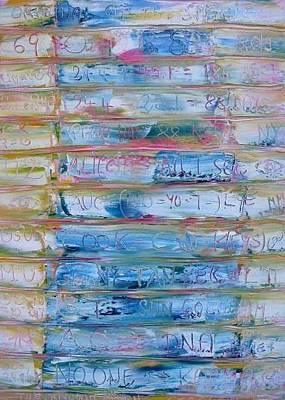 Painting - Gtac Code by Gunter  Tanzerel