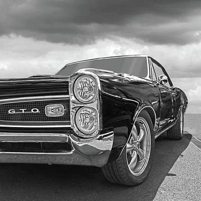 Photograph - Gto Black And White by Gill Billington