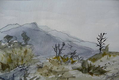 Painting - Guadalupe Mountains - First Draft by Joel Deutsch