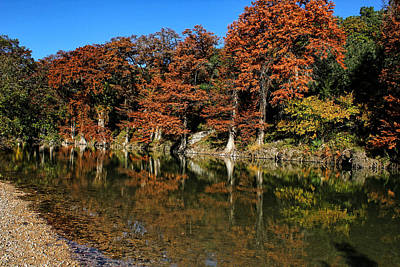 Photograph - Guadalupe River State Park Reflections by Judy Vincent
