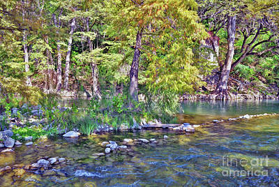 Photograph - Guadalupe River, Texas Hill Country by Savannah Gibbs