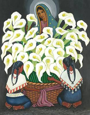 Painting - Guadalupe Visits Diego Rivera by James Roderick