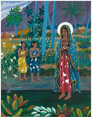 Painting - Guadalupe Visits Gauguin by James Roderick