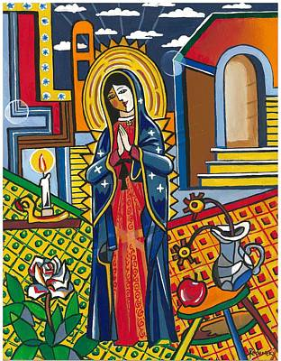 Painting - Guadalupe Visits Picasso by James Roderick