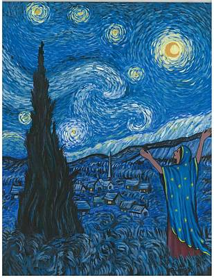 Guadalupe Visits Van Gogh Art Print by James Roderick