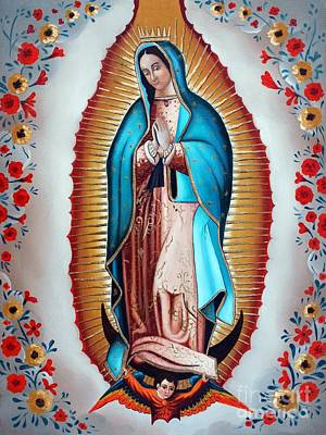 Virgen De Guadalupe Painting - Guadalupe's Virgin by Jose Luis Montes