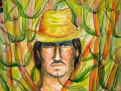 Campesinos Painting - Guajiro by Miguel Ordoqui