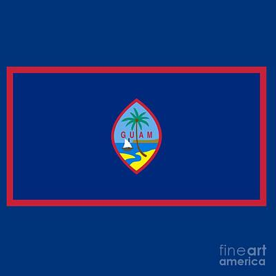 The Champagne Collection - Guam Flag by Frederick Holiday