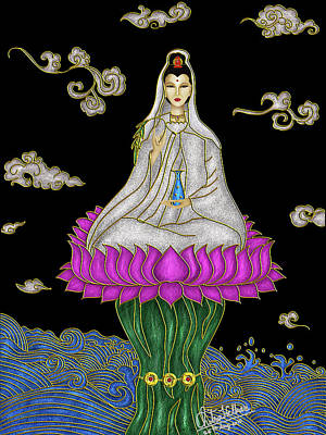 Digital Art - Guan Yin by Chitra Helkar