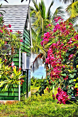 Bamboo Fence Digital Art - Guana Home by Anthony C Chen