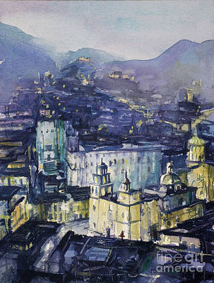 Painting - Guanajuato At Night by Ryan Fox