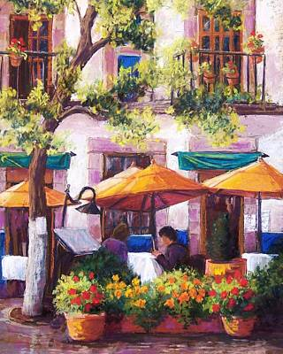 Guanajuato Cafe Art Print by Candy Mayer