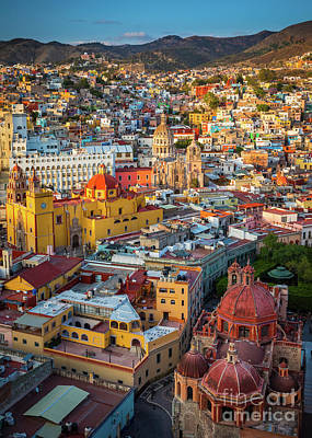 Rooftop Photograph - Guanajuato From Above by Inge Johnsson