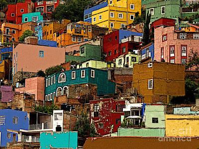 Portal Photograph - Guanajuato Hillside 4 by Mexicolors Art Photography
