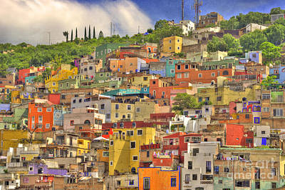 Mexican Photograph - Guanajuato Hillside by Juli Scalzi