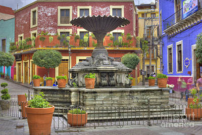 Flower Planter Photograph - Guanajuato Mexico by Juli Scalzi