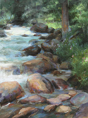 Mountain Stream Wall Art - Painting - Guanella Pass Stream by Anna Rose Bain