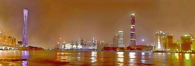 Guangzhou Tv Tower Art Print by Lanjee Chee