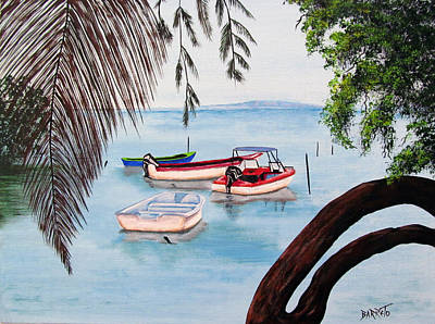 Painting - Guanica Bay by Gloria E Barreto-Rodriguez