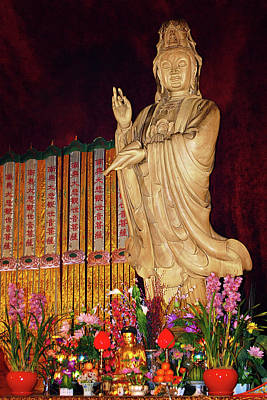 Guanyin Bodhisattva - Jin'an's Rare Female Buddha Print by Christine Till