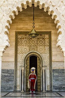 Rabat Photograph - Guard At The Mausoleum by Lindley Johnson