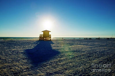 Photograph - Guard Shack And Final Sun by David Arment