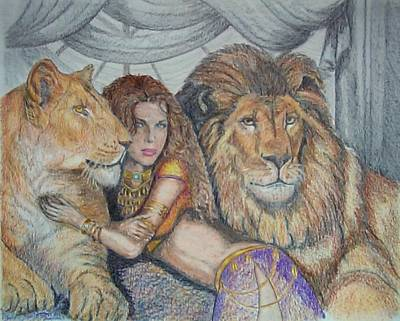 Guarded By Lions Art Print