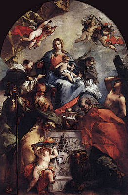 Digital Art - Guardi Gianantonio Madonna And Child With Saints by Giovanni Antonio Guardi