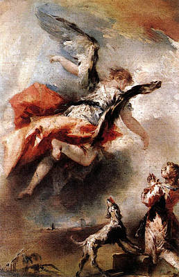 Digital Art - Guardi Gianantonio The Angel Appears To Tobias by Giovanni Antonio Guardi