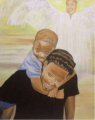Painting - Guardian Angel by Angelo Thomas