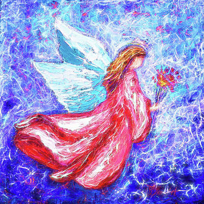 Painting - Guardian Angel by OLena Art Brand