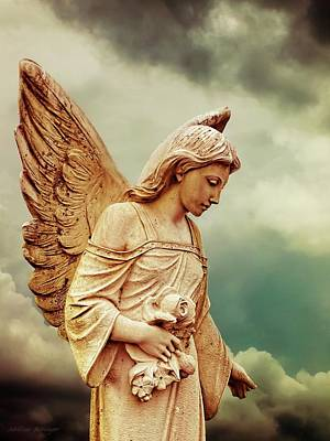 Faith Hope And Love Digital Art - Guardian Angel Art Photography by Melissa Bittinger
