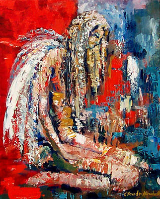 Guardian Angel Art Print by Claude Marshall