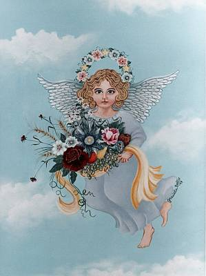 Celestial Painting - Guardian Angel by Graciela Bello