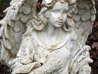Photograph - Battle Weary Guardian Angel by Belinda Lee