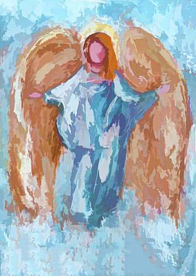 Didgital Art Photograph - Guardian Angel by Art OLena