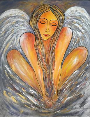 Painting - Guardian Angel.... by Renate Dartois