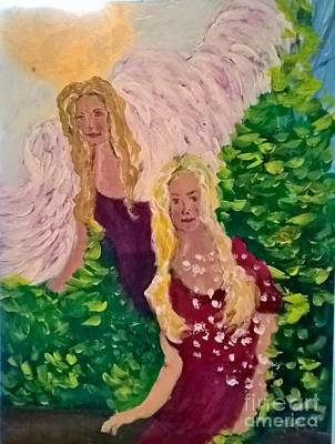 Popstar And Musician Paintings Royalty Free Images - Guardian Angel Royalty-Free Image by Sandy Sereno