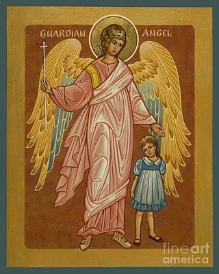 Painting - Guardian Angel With Girl - Jcgwg by Joan Cole
