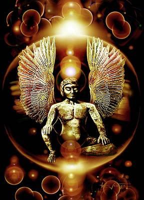 Guardian  Archangel Art Print