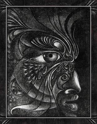 Drawing - Guardian Cherub by Otto Rapp