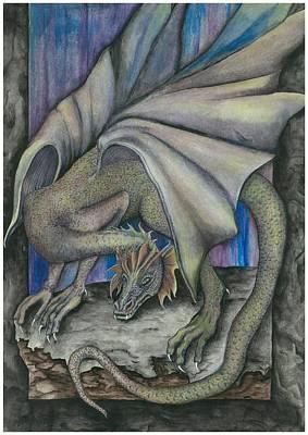 Guardian Dragon Art Print by Sally Balfany