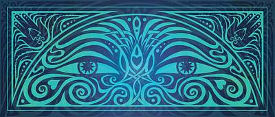 Celtic Knotwork Digital Art - Guardian Gaze by Cristina McAllister
