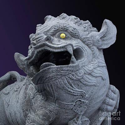 Photograph - Guardian Lion by Cheryl Del Toro