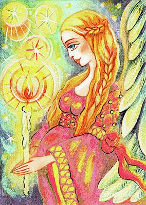 Painting - Guardian Mother Of Light by Eva Campbell