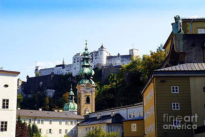 Photograph - Fortress Guarding Salzburg by Brenda Kean