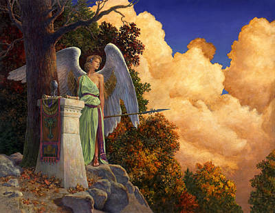 Sorceress Painting - Guardian Of The Horizon by Richard Hescox