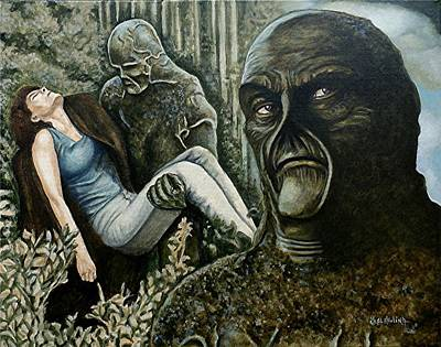 Swamp Thing Painting - Guardian Of The Swamp by Al  Molina