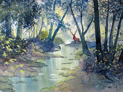 Painting - Guardian O'the Glade by Glenn Marshall