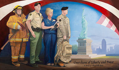 September 11 Painting - Guardians Of Liberty And Peace by Michael Wilson